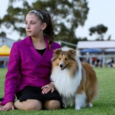 Show dog and her teen owner