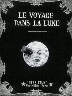 """""""Le Voyage Dans La Lune"""" (A Trip to The Moon) is a science fiction film from the French film pioneer Georges Méliès from the year 1902 Movie Poster Art, Poster S, Classic Movie Posters, Cool Movie Posters, Classic Films, Old Film Posters, Movie Collage, Science Fiction, Fiction Film"""