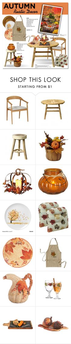 Rustic Fall Decor by cruzeirodotejo on Polyvore featuring interior, interiors, interior design, home, home decor, interior decorating, Bloomingville, Fitz and Floyd, Twine and Harvest