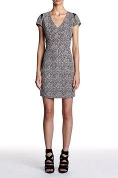 Set - Ethnic printed dress - Black White