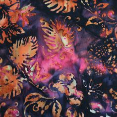 Anthology Fabrics Bali Batik 9579 Multi Leaf Yardage #AnthologyFabrics
