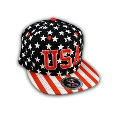 This is a High Quality Black USA Star Spangled Snapback Hat from Top Level. It has Embroidered USA in on the Front! With Red and White Print! Stars and Stripes! It's an adjustable Baseball Style Snapback Cap with a Flat Bill Visor! Hip Hop Hat, Star Spangled, Snapback Cap, Red And White, Baseball Hats, Stripes, Flats, 3d, Style