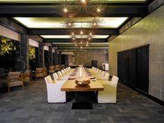 Luxus Restaurant Innendesign Pendelleuchten