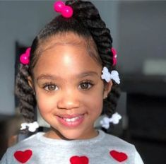 Looking for a cute hairstyle for your little girl? Take a look at some of the cutest kids hairstyles for girls from braids to buns, pigtails to ponytails. Cute Little Girl Hairstyles, Girls Natural Hairstyles, Baby Girl Hairstyles, Natural Hairstyles For Kids, Kids Braided Hairstyles, Black Toddler Girl Hairstyles, Mixed Kids Hairstyles, Black Hairstyles, Braids For Kids