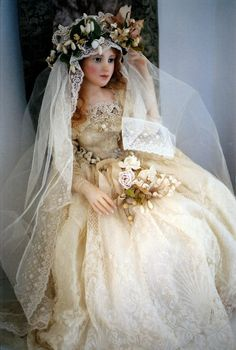 I loved my bride doll from Aunt Mildred...not as lavish as this beautiful doll, but gorgeous to me!