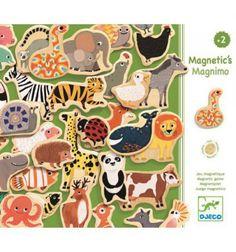 Drewniana układanka magnetyczna Zwierzątka MAGNIMO Djeco