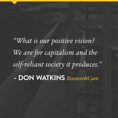 A quote from Don Watkins' new book, RooseveltCare.