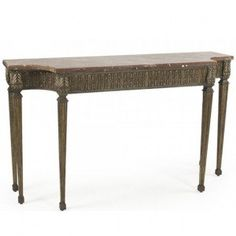 Handsome Antique Writing Table Desk Carved Monopodium Legs Antiques Tables