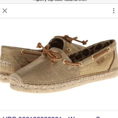 Sperry Top-sider katama linen gold & tan boat shoe Sperry Top-sider katama linen gold & tan boat shoes, women's size 8.5, brand new with box, 100% authentic item Sperry Top-Sider Shoes Flats & Loafers