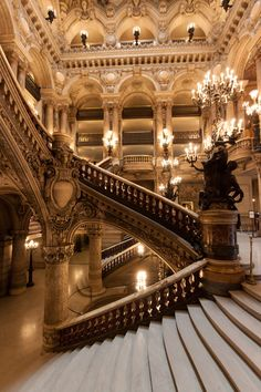 Grand Staircase of the Paris Opera House in Paris, France. Baroque Architecture, Beautiful Architecture, Beautiful Buildings, Beautiful Places, Classical Architecture, Ancient Architecture, Architecture Design, Gold Aesthetic, Classy Aesthetic