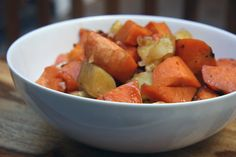 Delicious maple-roasted sweet potatoes and yams highlight the sweetness of the veggies, minus all the calories, fat, and sugar found in the classic. Using Yukon golds really makes all the difference here.  Photo: Michele Foley