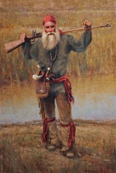 French Trapper by Chauncey Homer Oil ~ 24 x 16