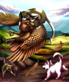 Tallstar fighting a hawk to save kits. Awwww