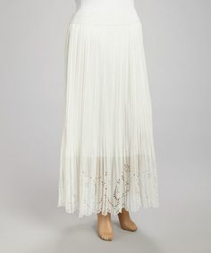 Love this Ivory Lace Sequin Maxi Skirt - Plus on #zulily! #zulilyfinds