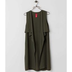 Women's Duster Vest in Green by Daytrip. ($35) ❤ liked on Polyvore featuring outerwear, vests, green, chiffon vest, daytrip vest, green vest, green waistcoat and daytrip
