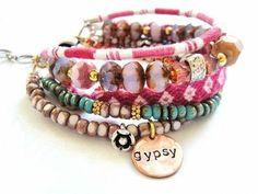 images of diy boho jewelry | Boho bracelet on memory wire | jewelry & DIY,des bijoux dans le cou...
