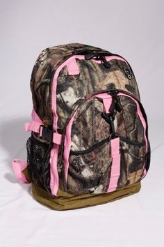 Mossy Oak Camo 17 Backpack with Pink Trim.Perfect bag to carry items when  hunting or traveling! 6a0d7906cce00