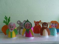 Paper Bag Puppets, Finger Puppets, Kids And Parenting, Fairy Tales, Planter Pots, Preschool, Workshop, Table Lamp, Christmas Ornaments