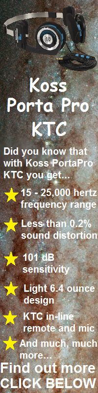 Koss PortaPro KTC Ultimate Portable On-Ear Stereo Headphones are a light weight, portable, inexpensive headset with an on-cord microphone and remote. It's not perfect, but its pretty good for the price, and most people like it.  Read a full article about the benefits and features of this product by going to: http://hifiheadphones.org/koss-porta-pro-ktc-ultimate-portable/.  On Amazon this product will cost about $49.00.