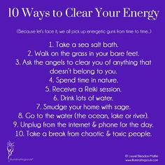 ... clearing your energy