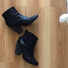 Rag & Bone perforated Newbury Bootie Black leather booties with perforated side. rag & bone Shoes Ankle Boots & Booties