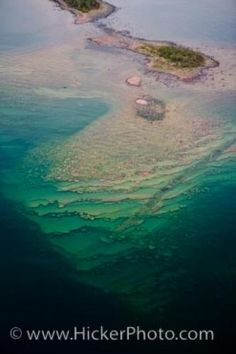 Aerial view of frozen lakes | Photo of an aerial view of islands in Lake Superior, Thunder Bay ...