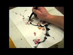 Ogawa Ryu - Sumi-e Bamboo Painting for Student Level 1 with Insect - YouTube