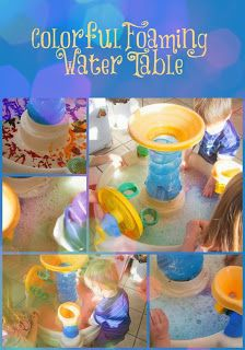 Life with Moore Babies: Colorful Foaming Water Table