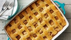 Chicken, rice, caramelized onions and Swiss cheese come together for a comforting dinner that promises to take the bite out of any chilly night. Plus, who can resist that flaky lattice crust top?