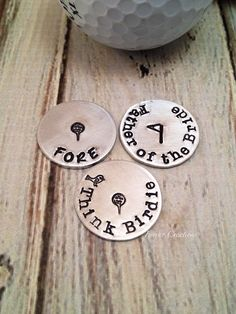 Golf Ball Markers  Choose 3 men's gift by FarrarCreations on Etsy, $25.00
