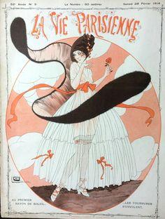 Georges Léonnec (1881 – 1940). La Vie Parisienne, 28 Février 1914. [Pinned 11-vi-2016]