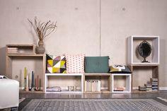 Cube Modulschrank 7 Fächer - 320 cm breit von PURE Wood Design auf DaWanda.com
