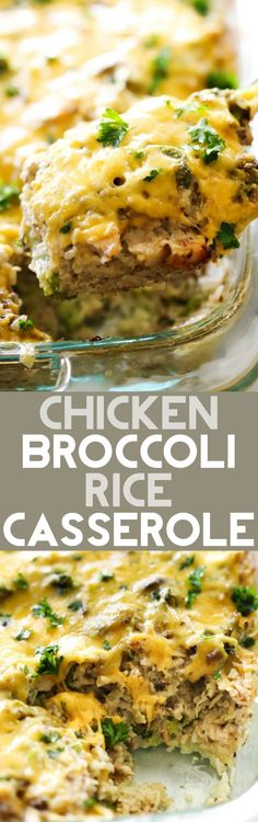 This Chicken Broccoli Rice Casserole is made with delicious ingredients and is a wonderful all-in-one-meal! It is made with a homemade mushroom soup recipe which really adds to the incredible flavor! This will be an instant new family favorite!