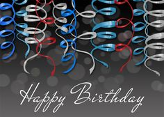 Birthday Streamers - Birthday Cards from CardsDirect