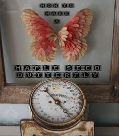 Maple Seed Butterfly Art