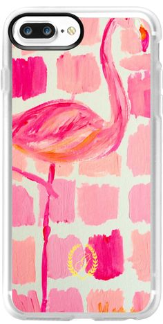 'Pink Flamingo Painting' iPhone 7 Plus Classic Grip Case   Preppy Art by Graham, Casetify