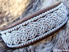 Sami Swedish Lapland Bracelet - Design Grane in Bronze Lambskin.