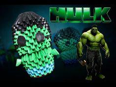 Hulk 3D Origami   Pekeño ♥ - YouTube