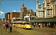 Boardwalk View Showing Tram Atlantic City New Jersey 6/7/1974