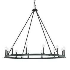 Check out the Capital Lighting 4912BI-000 Pearson 12 Light Chandelier in Black Iron priced at $772.00 at Homeclick.com.
