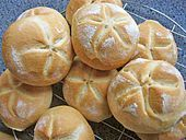 the best German rolls ever - I mean the best rolls ever!!! There is no substitute. Kaisersemmeln / Kaiserbrötchen