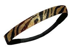 Gold and Black Zebra Glitter Sparkly Sports Headbands - Glitter Headband Store by Glitter Headband Store. $2.98. Looking for a fashionable way to make a statement for you or your team on and off the field? Then look no further than the Diamond Duds Glitter Headband. Specially made for today's female athlete. These durable sport specific, one size fits all, 3/4 inch wide headbands will keep eveyone talking on the field. The Glitter Headbands have an elastic back ...