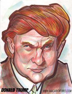 caricature | Donald Trump Digital Caricature Art : gifts drawn by Caricature ...