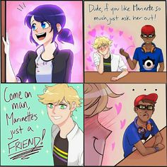 True, I think he likes Marinette  but he doesn't want to admit to himself or anyone else.