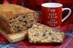 This Scottish Tea Bread, or fruit loaf, or even Bara Brith recipe is for a bread which one would have with a cup of tea. However, this is even made using tea! So put the kettle on and make an extra strong pot of tea! Scottish Dishes, Scottish Recipes, Irish Recipes, Sweet Recipes, Scottish Desserts, English Recipes, Healthy Recipes, Fruit Bread, Dessert Bread