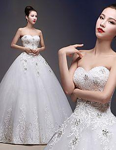 Feel like a princess walking down the aisle in this dress Stunning Wedding Dresses, 2015 Wedding Dresses, Designer Wedding Dresses, Beautiful Dresses, Wedding Gowns, Bridesmaid Dresses, Cheap Wedding Dresses Online, Cheap Dresses, Fairytale Dress