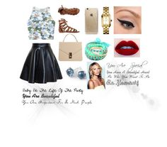 """""""Baby Be The Life Of The Party"""" by fabiola-maria on Polyvore featuring moda, Chicnova Fashion, MSGM, O'Neill, Rifle Paper Co, Tory Burch, Ippolita, LORAC y Ruby Rocks"""
