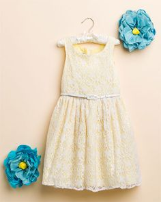 Pippa & Julie Yellow & White Lace Sleeveless Dress (7-14) - for the flower girl