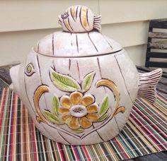 Vintage Fish Cookie Jar made in USA by Treasure Craft