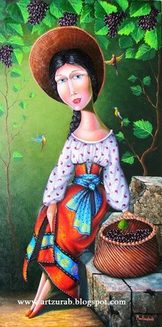 "Artist Zurab Martiashvili: 2013,  ""Beautiful"", grapes, vines"